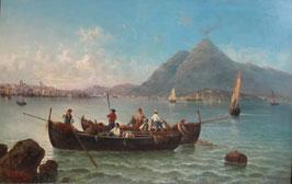 E. Vertunni Ölgemälde, Vesuv Italien c. 1820