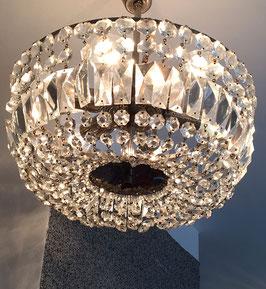Glasluster Chrom geschliffene Glassteine c. 1930