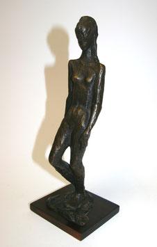 Bronzeskulptur weiblicher Akt Prof. Wilfan 1968