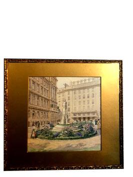 Rudolf Bernt Aquarell Postsparkasse Wien, c. 1910