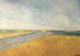RUDOLF RAIMUND BALLABENE, Ölgemälde,  Landschaft mit Feld c. 1940