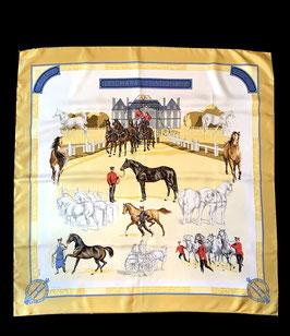 Vintage Hermès Paris Les Haras Nationaux Seidentuch