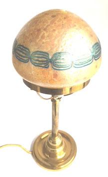 Lötz Tischlampe Dekor Candia Opal c. 1902
