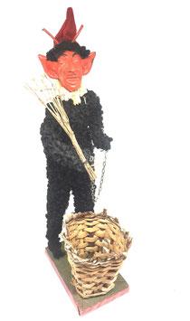 Große Krampus Figur mit Butte c. 1920