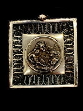 Silber Tauftaler Muttergottes mit Jesuskind c. 1860