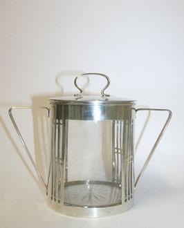 Glasbonbonniere mit Silbermontierung  1918