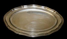 Tablett versilbert ovale Form c. 1880