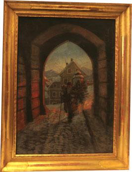 Ölgemälde Weihnachtsmann c. 1900