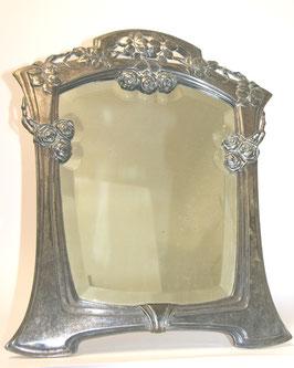 Jugendstil Silber Tischspiegel c. 1900