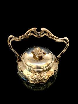 Jugendstil Silber mit Glas Moser Karlsbad