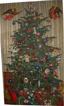 Ölgemälde Christy Astuy,  Christbaum Weihnachten 1989