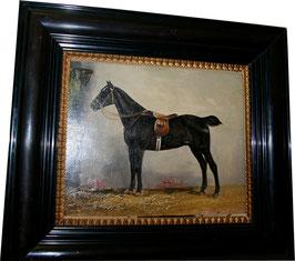 Ölgemälde L. Wepsner Pferd c. 1880