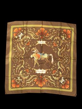 Vintage Hermès Paris Seidentuch Carrè Cheval Turc
