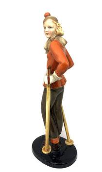 Keramos Schifahrerin Skifahrerin Figur c. 1930