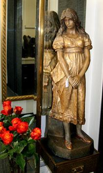 Kunstkeramik Skulptur Goldscheider Cherc Mädchen c. 1900