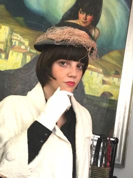 Wiener Modelhut Vintage Elegance Federdekor