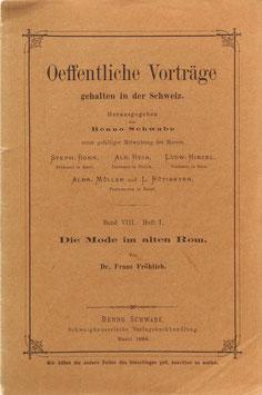 Fröhlich, Franz - Die Mode im alten Rom