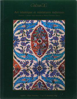 Art islamique et miniatures indiennes