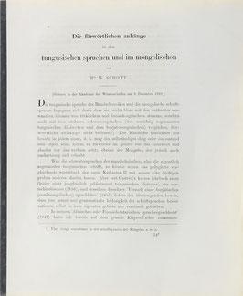 Schott, W. - Die fürwörtlichen anhänge in den tungusischen sprachen und im mongolischen