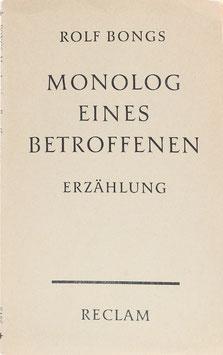 Bongs, Rolf - Monolog eines Betroffenen - Erzählung