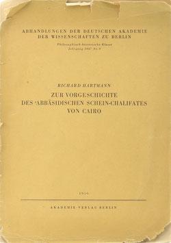 Hartmann, Richard - Zur Vorgeschichte des 'Abbasidischen Schein-Chalifates von Cairo