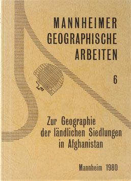 Jentsch, Christoph und Loose, Rainer - Zur Geographie der ländlichen Siedlungen in Afghanistan
