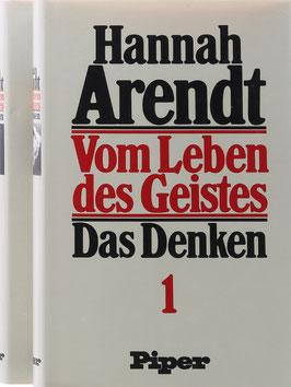 Arendt, Hannah - Vom Leben des Geistes - 2 Bände
