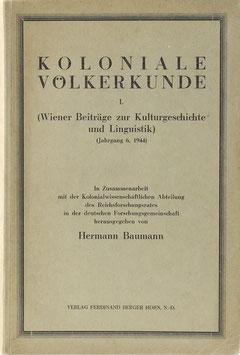Koloniale Völkerkunde I.