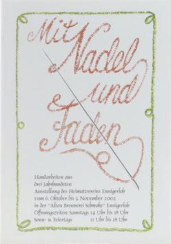 Mit Nadel und Faden - Handarbeiten aus drei Jahrhunderten