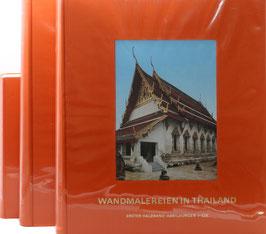 Wenk, Klaus - Wandmalereien in Thailand - Mit Geleitwort seiner Hoheit Prinz Dhaninivat - 3 Bände