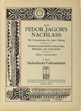 Jagor, Fedor - Aus Fedor Jagor's Nachlass - I. Band Südindische Volksstämme