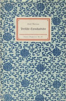 Bertram, Ernst - Persische Spruchgedichte