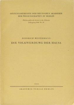 Westermann, Diedrich - Die Volkwerdung der Hausa
