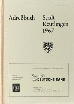 Adreßbuch Stadt Reutlingen 1967