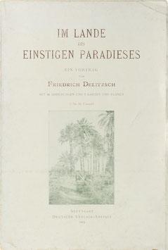 Delitzsch, Friedrich - Im Lande des einstigen Paradieses