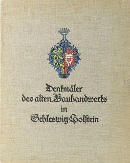 Voß, Carl - Denkmäler des alten Bauhandwerks in Schleswig-Holstein