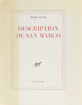 Butor, Michel - Description de San Marco