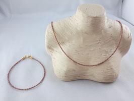 Granat - Set, Kette und Armband
