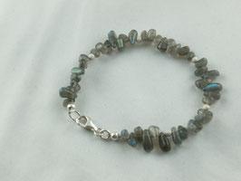 Labradorit - Armband in Silber, Best.-Nr.:LAS0001