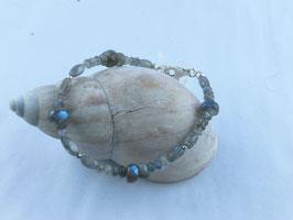 Labradorit Armband mit unterschiedlichen Größen an Steinen, Best.-Nr.:LAS0002