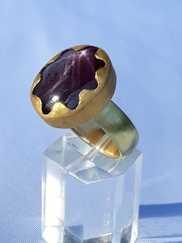 Sternrubin Ring in  Gold 18ct