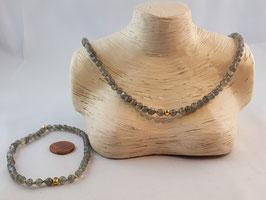 Labradorit - Set, Kette und Armband