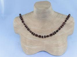 Granat (Orissa)- Kette mit Silberelementen (925), Best.-Nr.:GKS004