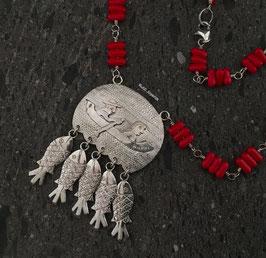 Collar Medallon Pescador c/Truchas