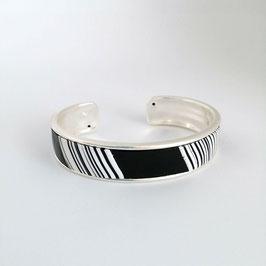 Bracelet Jonc Noir & Blanc