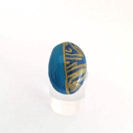Bague Ovale Bleu & Or