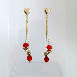 Boucles Serpentines Rouge & Or