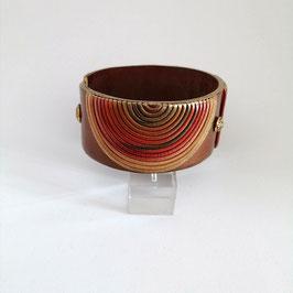 Bracelet Manchette Spirales Feuilles d'Automne