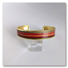 Bracelet Jonc Rouge & Vert