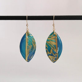 Boucles Calissons Bleu & Or